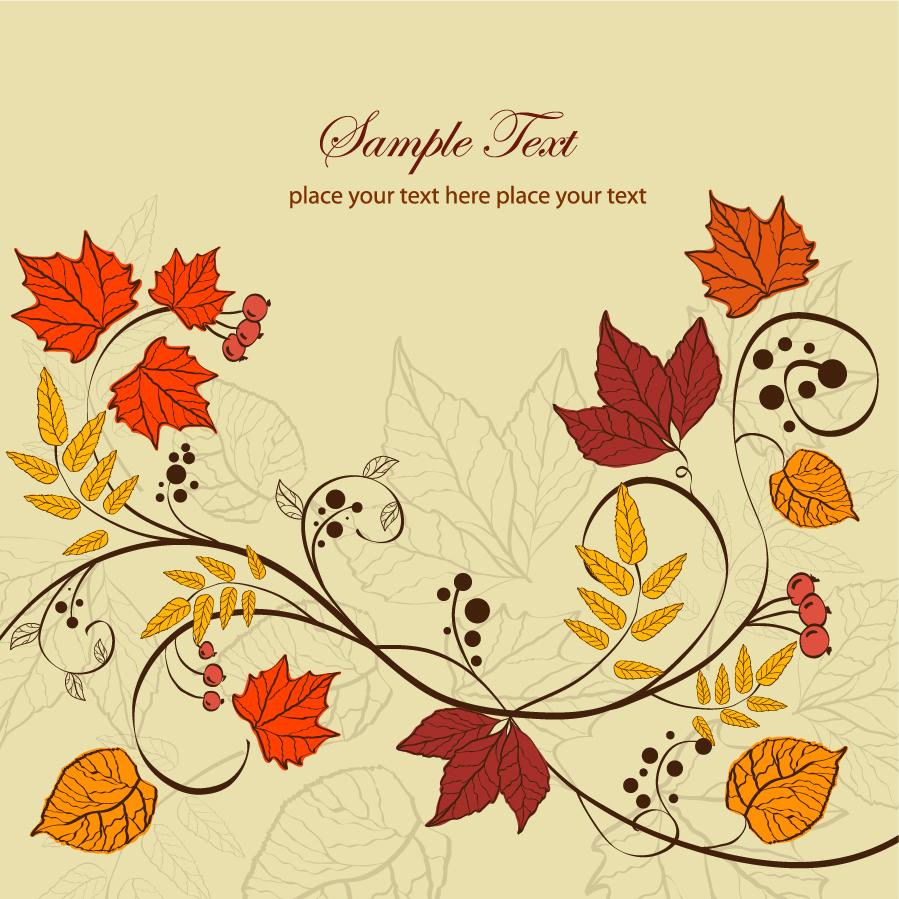 秋の紅葉の背景 autumn leaves background イラスト素材 | ai eps