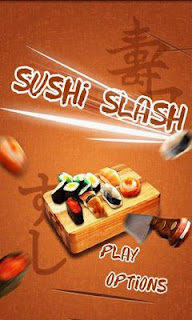 Screenshots of the Sushi Slash for Android tablet, phone.