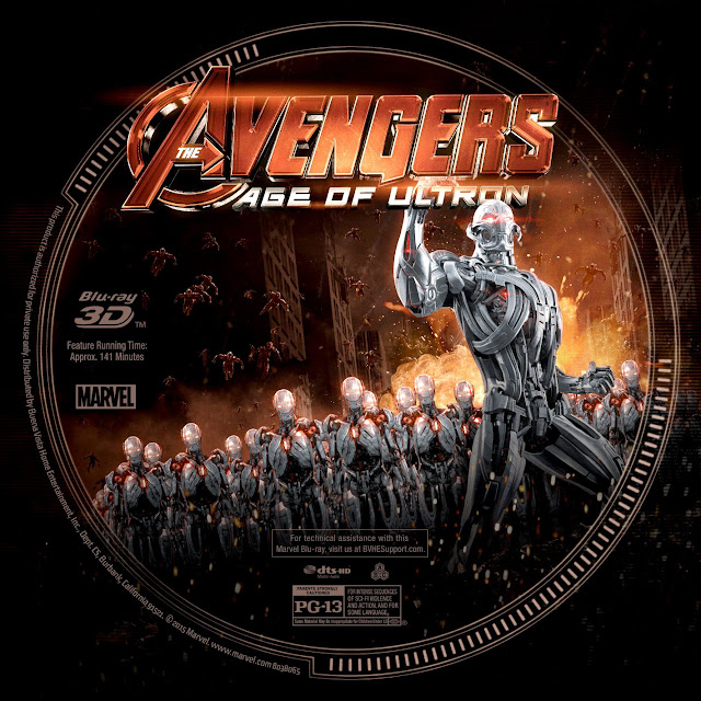Label Bluray The Avengers Age Of Ultron 3D