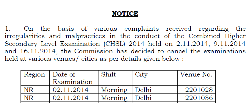 SSC LDC DEO Exam 2014 Cancelled - Check Re-exam dates