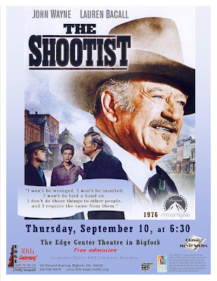 The Duke's Last Movie as The Shootist Helps Youngster - Edge Center for the Arts