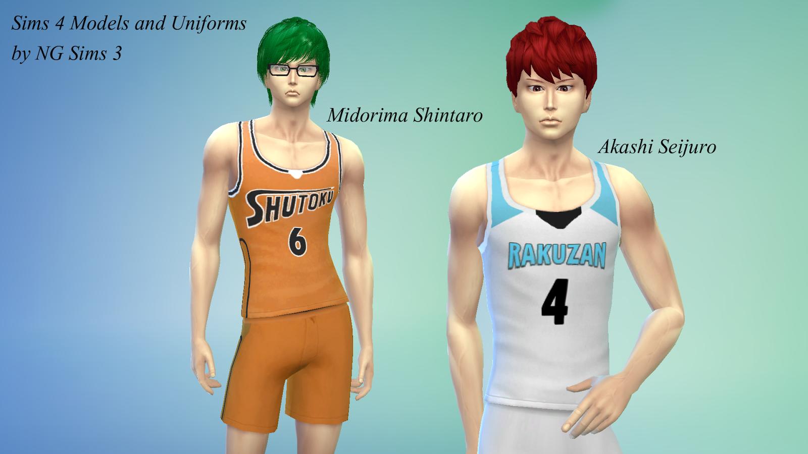 Sims 4 Anime Characters : Ng sims akashi midorima models uniforms