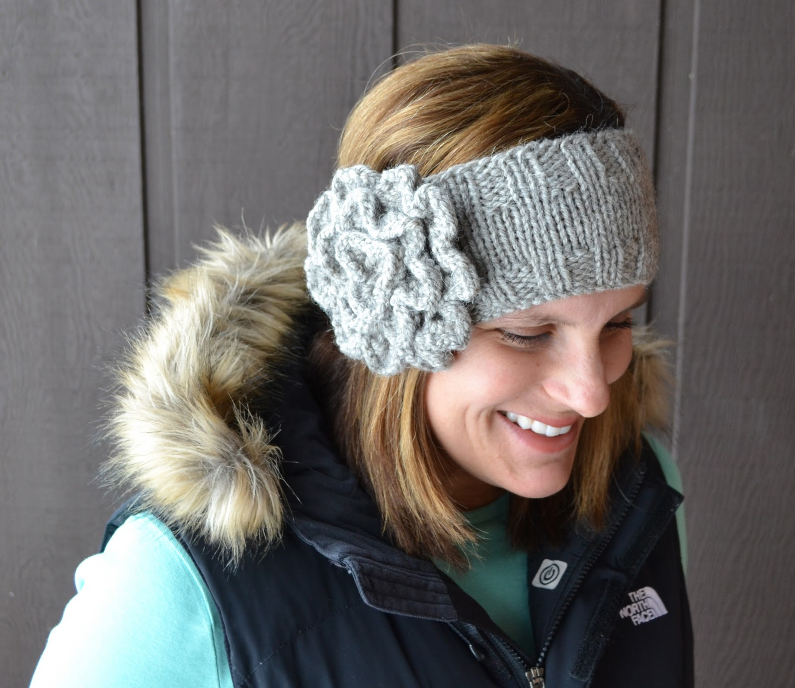Old Fashioned Headband Knitting Pattern With Flower Crest - Blanket ...