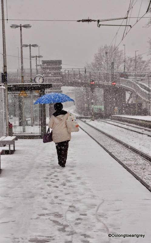 Snow in Hofheim, Germany
