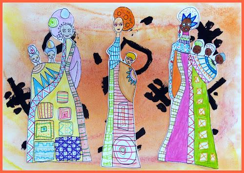 graphismes africaines en maternelle