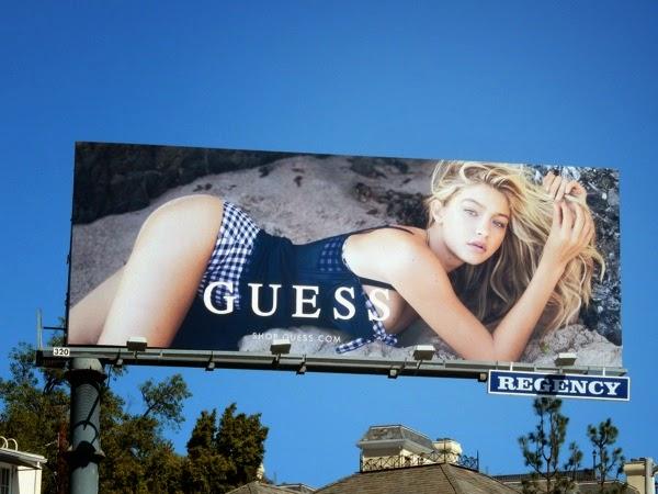 Guess Spring 2015 Gigi Hadid billboard