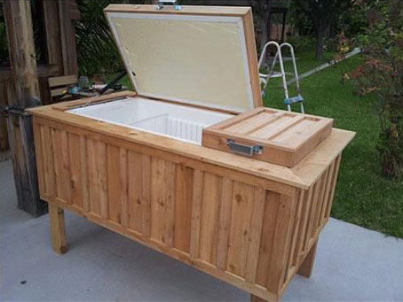 Perfect And Of Course, Who Doesnu0027t Love A Well Decorated Patio?! This DIY Lets You  Turn An Old Refrigerator Into A Beautiful Ice Chest At ...