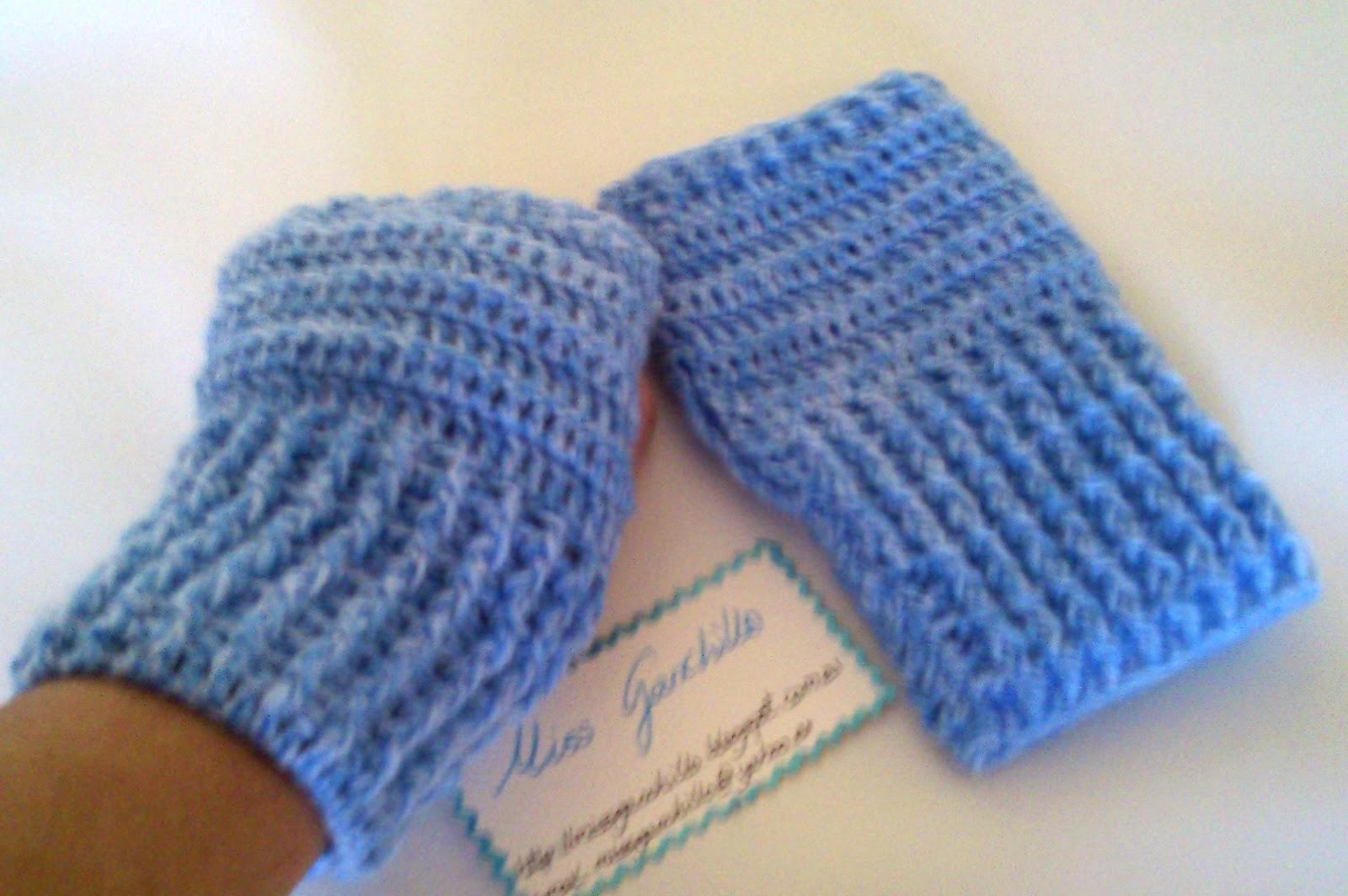 Guantes sin dedo | Miss Ganchillo y Crochet