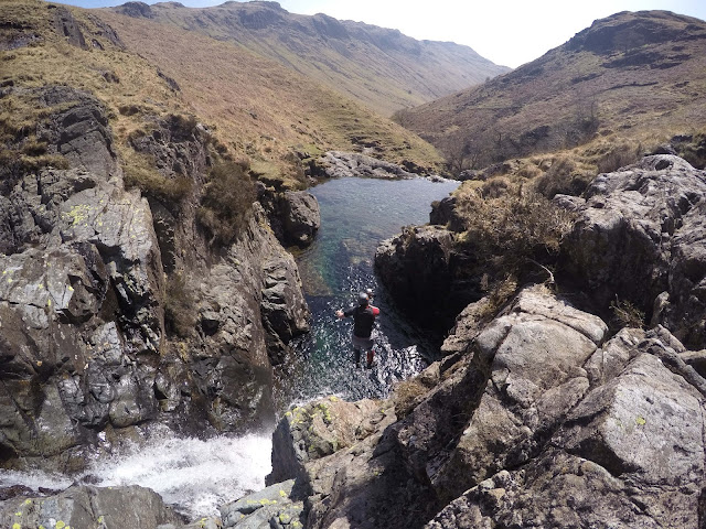 canyoning, esk, lake district, Safety net, working, 9-5, travel, travelling, traveling, risks, regret, reward, get busy living, one life, paraglide, mountains, inspiration, motivation, quit work and travel the world, backpacking, alternative lifestyles, digital nomad, nomadic lifestyle, travel for work, travel lifestyle, freedom, hippie, chains, self imposed, question normality,