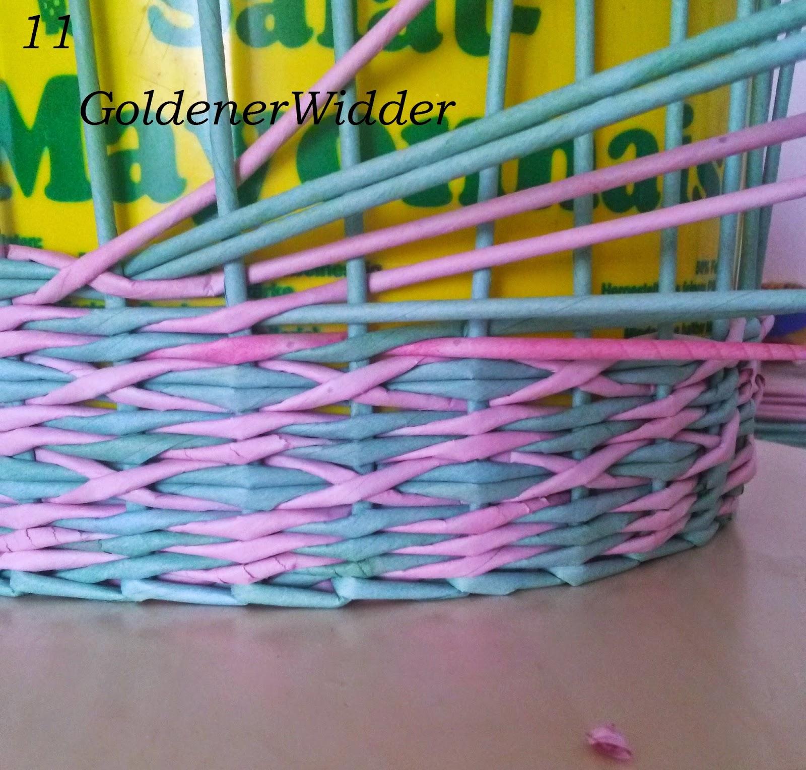 Плетение газетными трубочками узор