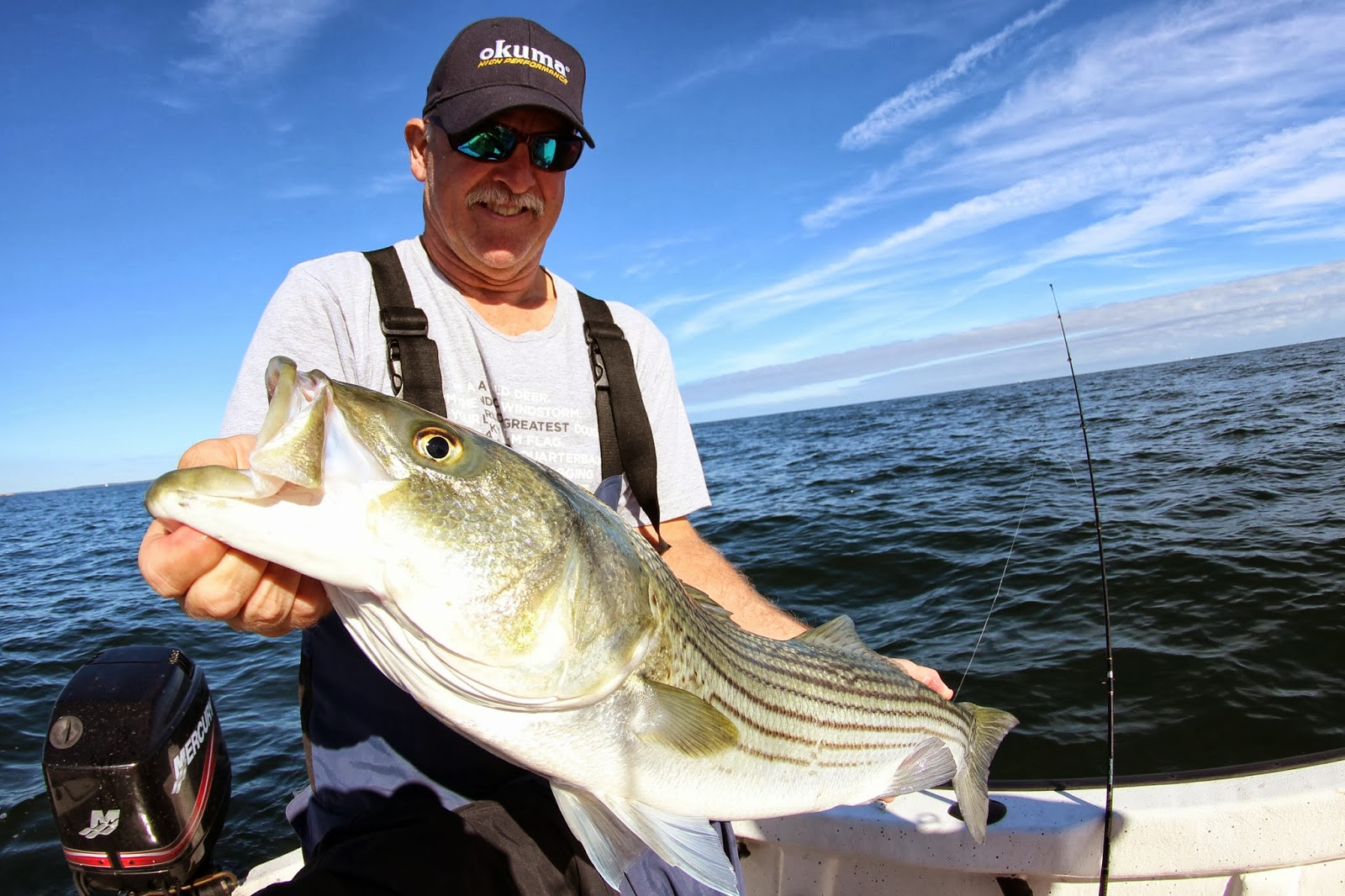 Rhode island striped bass boaters have big advantage for Bass fishing from shore