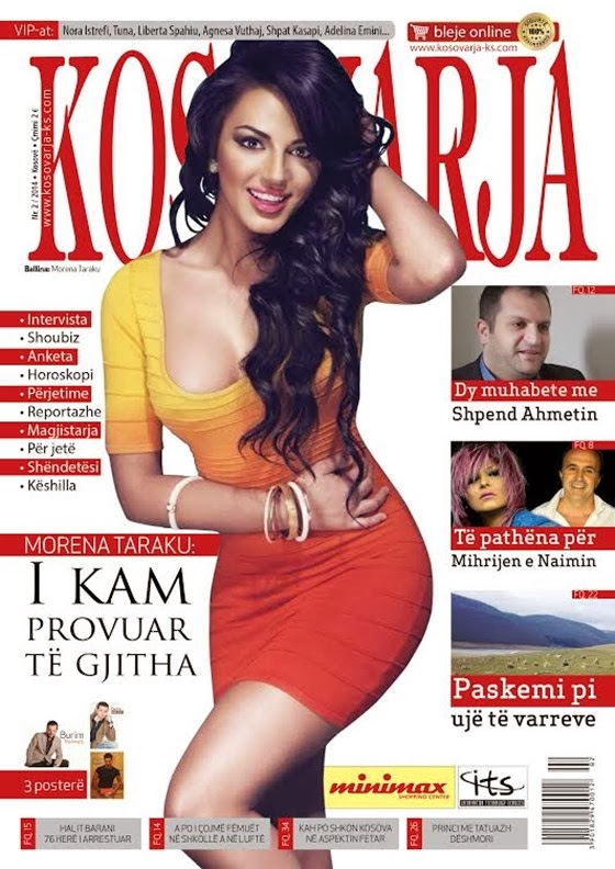 "Morena Taraku on cover of magazine ""Kosovarja"""