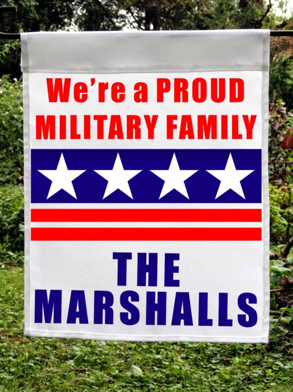 proud military family custom flag