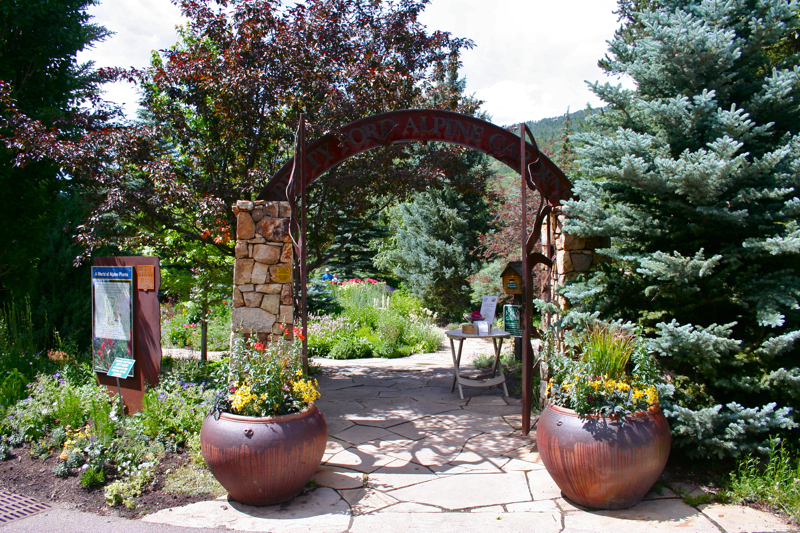 The Entrance To The Garden. Like Most Great Things In Colorado There Is No  Entrance Fee!