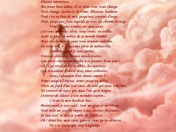 Assez Message d'Amour et d'Amitié: Jolie Carte et Poème, Cœur Brisé  IU18