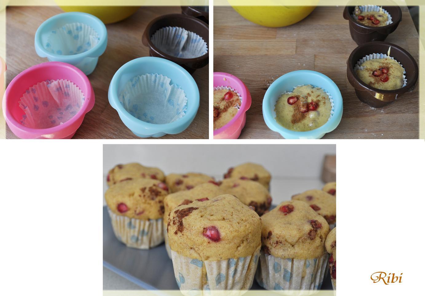 muffins alla melagrana e cannella