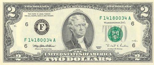 2 Dollar Bill Value