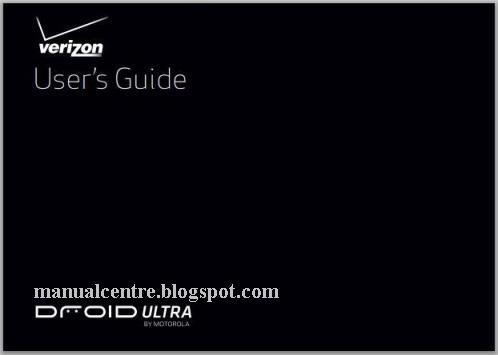 Motorola Droid Ultra Manual Cover