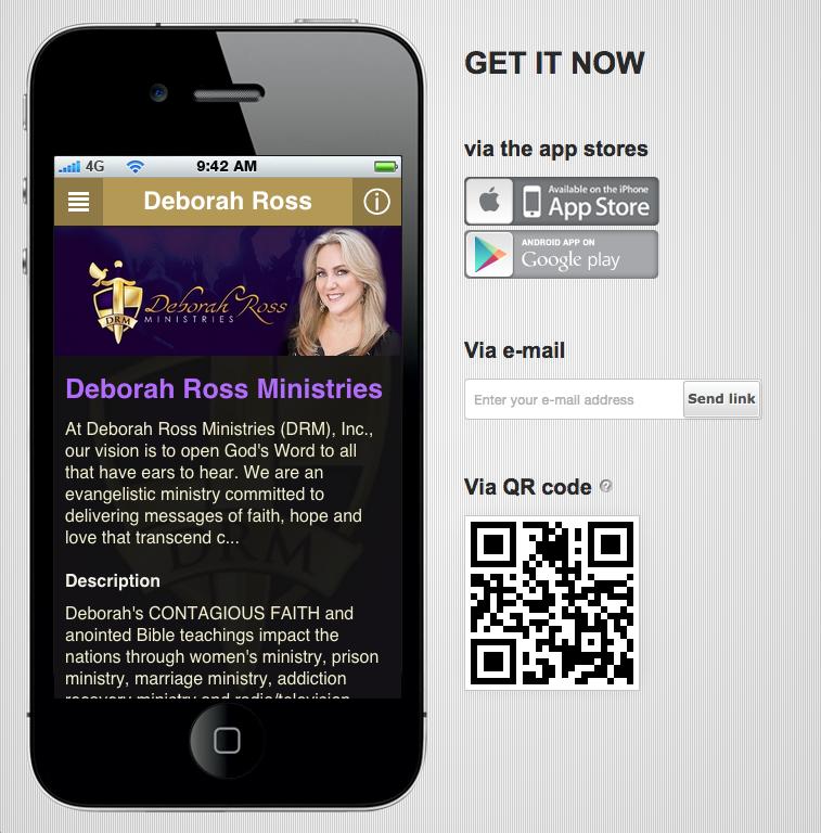 Deborah's Free Mobile App!