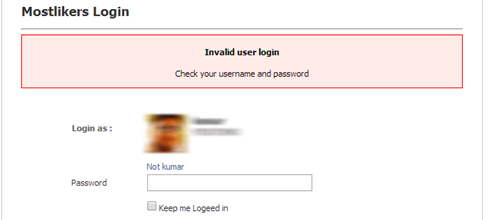 Facebook style login system using Mysqli and CSS