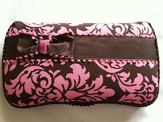 Pink N Brown Damask