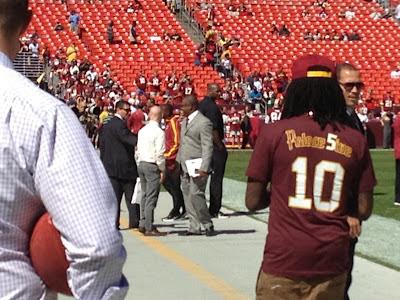 Meeting Daniel Snyder on FedEx Field before kickoff