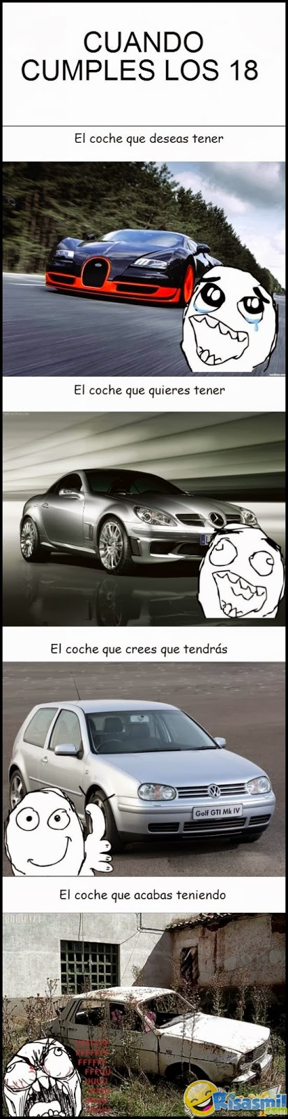 Memes de los coches que crees que vas a tener con 18 años