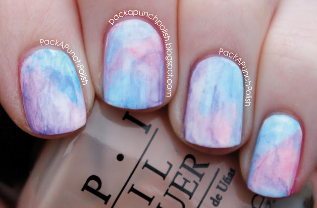see so many nail bloggers doing the watercolor nails and i sort of