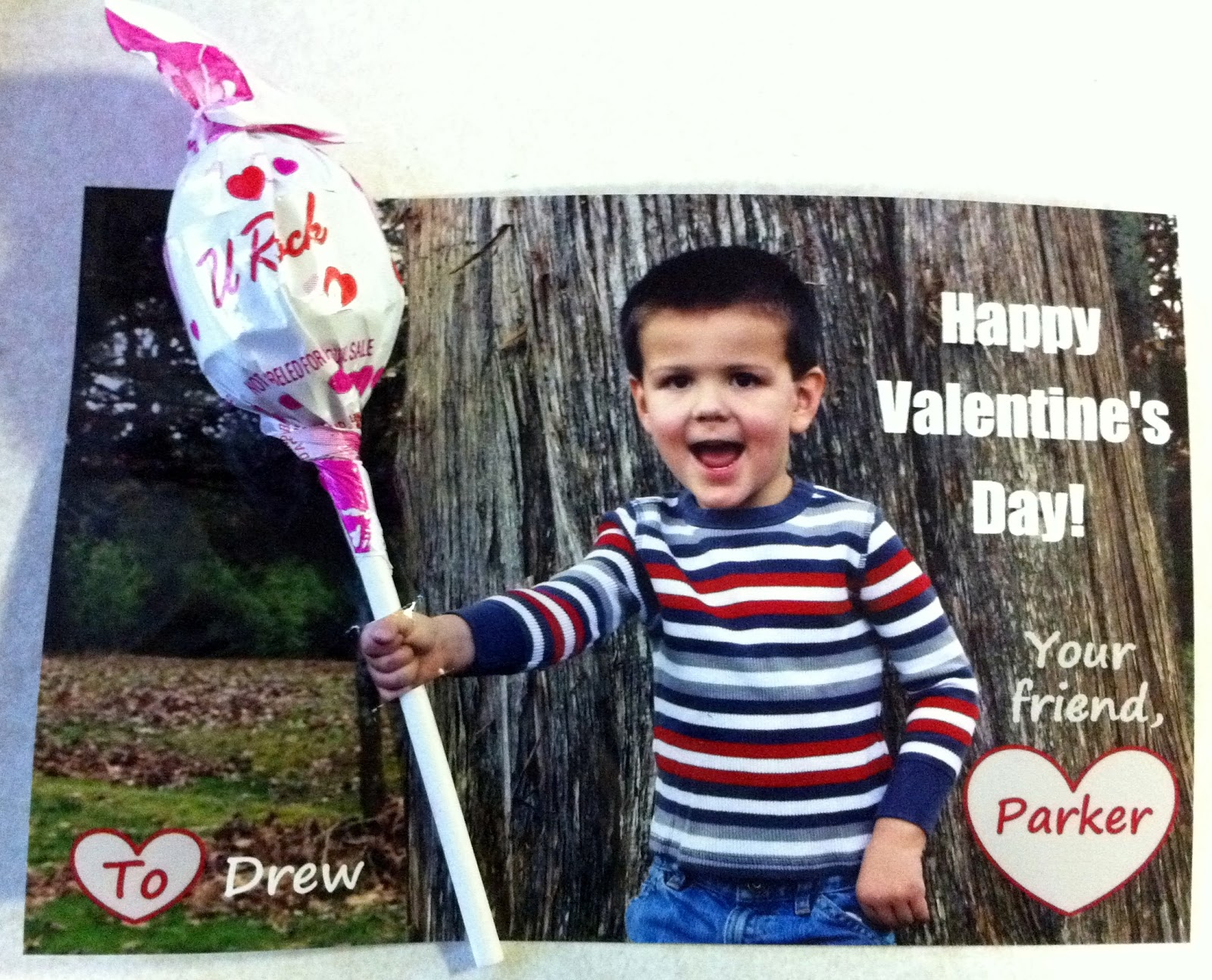 Blowpop Sucker Photo Valentine
