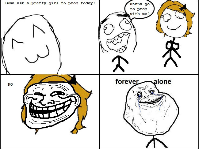 valentine day loner meme - mayans the trollers Forever Alone memes