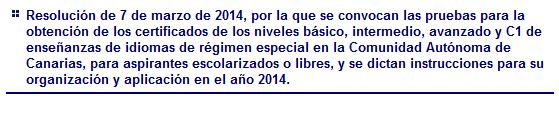 Pruebas de Certificación (2014)