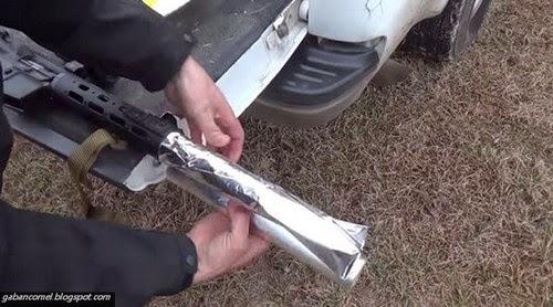 Video Lelaki Ini Memanggang Daging Guna Rifle M16