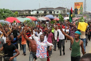 pro Biafra protesters