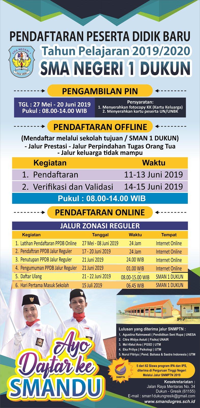 PPDB SMAN 1 DUKUN GRESIK 2019/2020