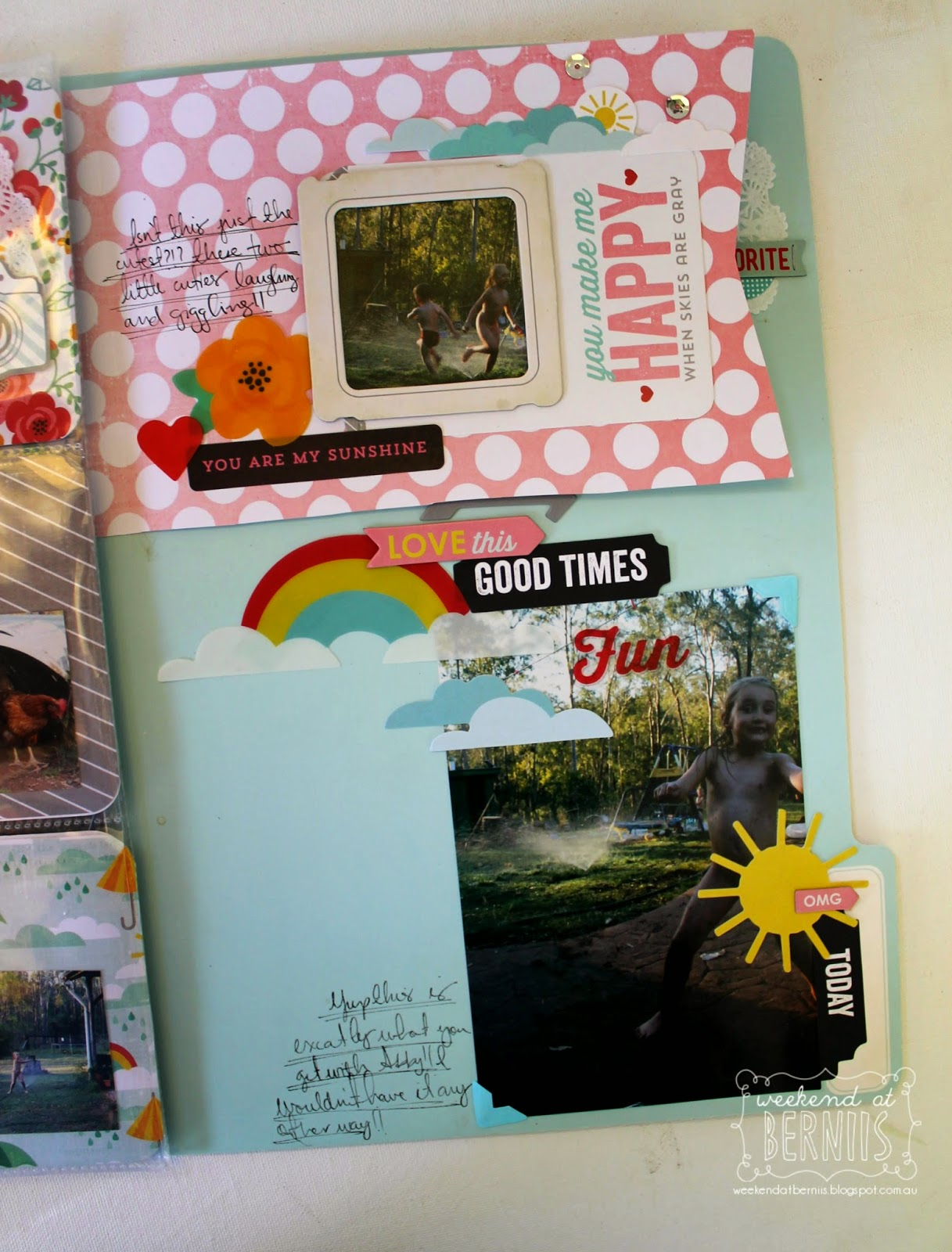 Sunshine Memory File by Bernii Miller using Hello Sunshine Collection by Pink Paislee.