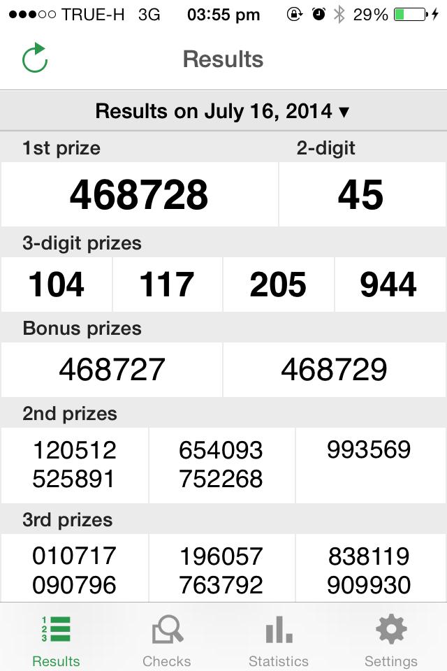 Thai Lotto Live Result 16-07-2014