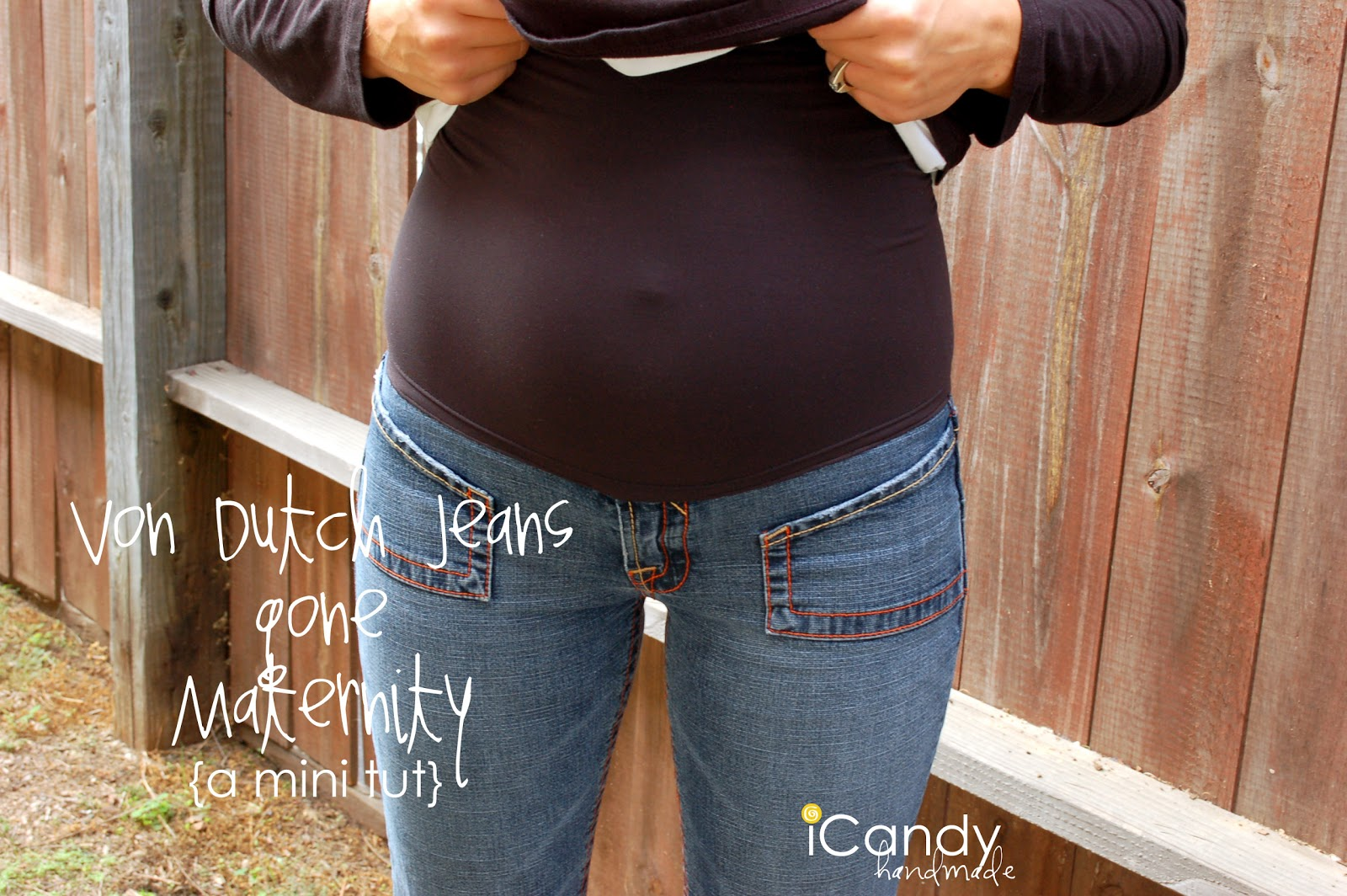 DIY Maternity Jeans Conversion - iCandy handmade