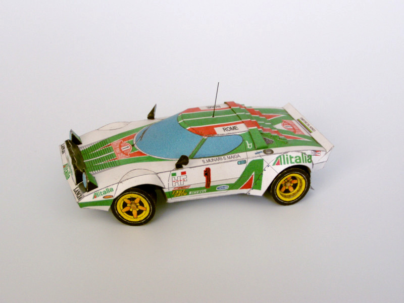 Legendary cars paper model lancia stratos