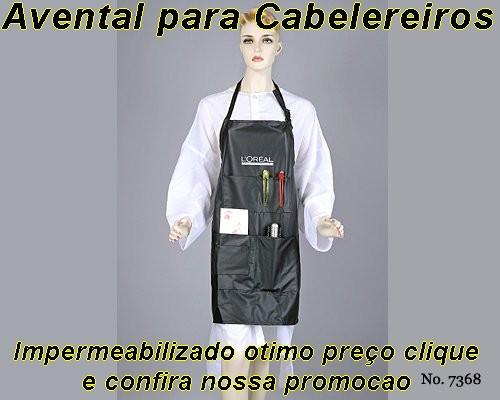 AVENTAL PARA CABELEREIROS EM CETIM