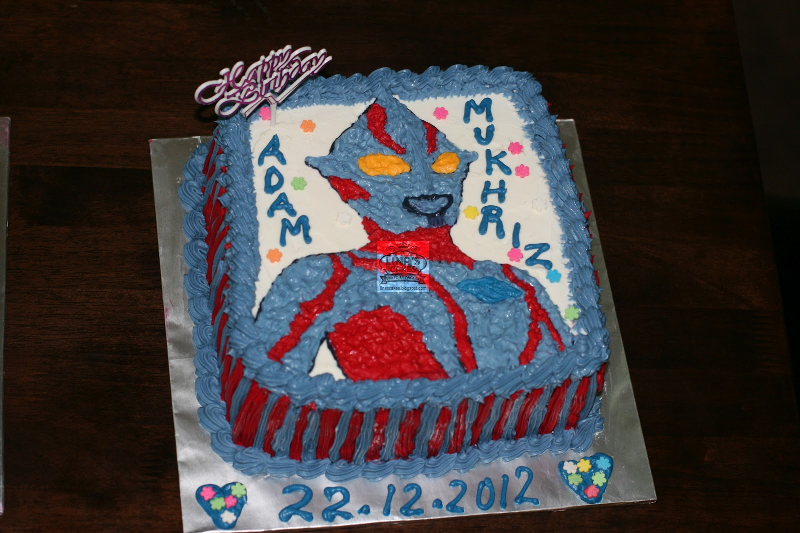 LinasCakes Baked by Angels Ultraman cake Advance Birthday Cake