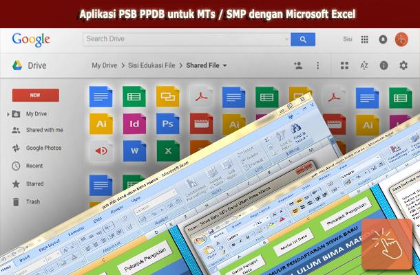 Aplikasi PSB PPDB untuk MTs / SMP dengan Microsoft Excel