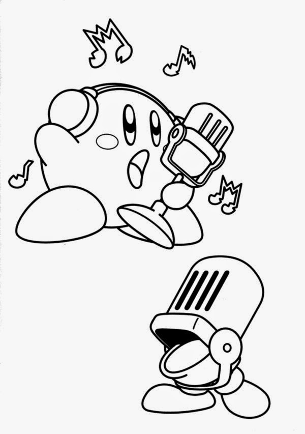 Coloring pages for kids together kirby coloring pages for Kirby coloring pages to print