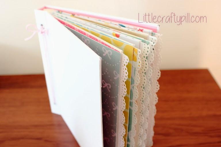 Tutorial como forrar album fotos part1 little crafty pill - Como decorar un album de fotos ...