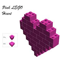 PINK LEGO HEART DIY