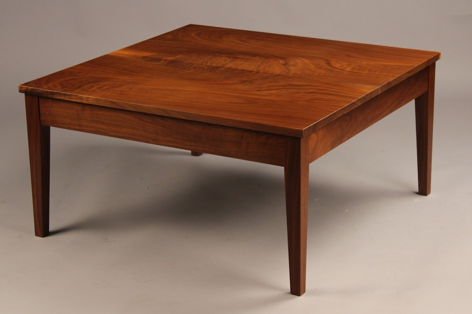 Doucette and wolfe fine furniture makers custom coffee table Handcrafted coffee table