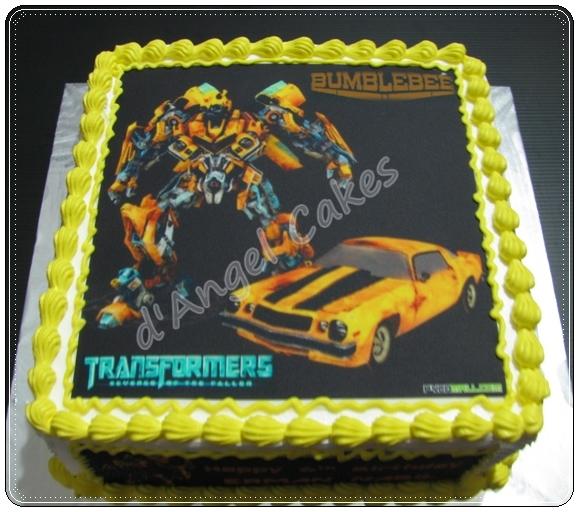 D Angel Cakes Transformer Bumblebee Cake
