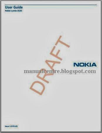 Nokia Lumia 2520 Manual Cover