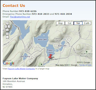 Fayson Lakes Water Company Map