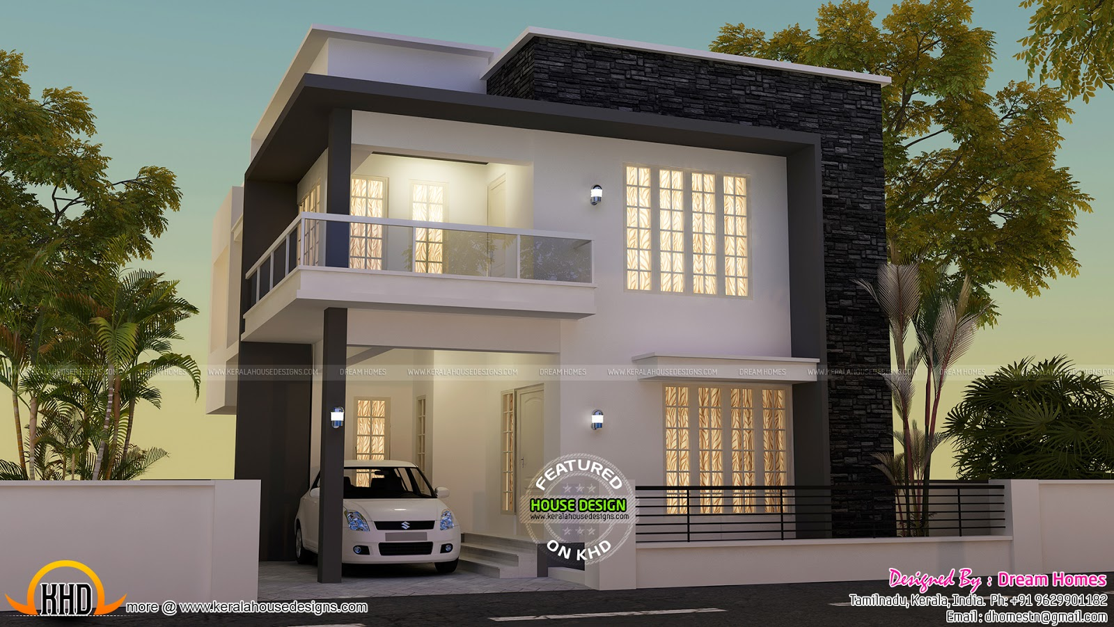 Modern house view and plan kerala home design and floor for Modern 2 floor house design