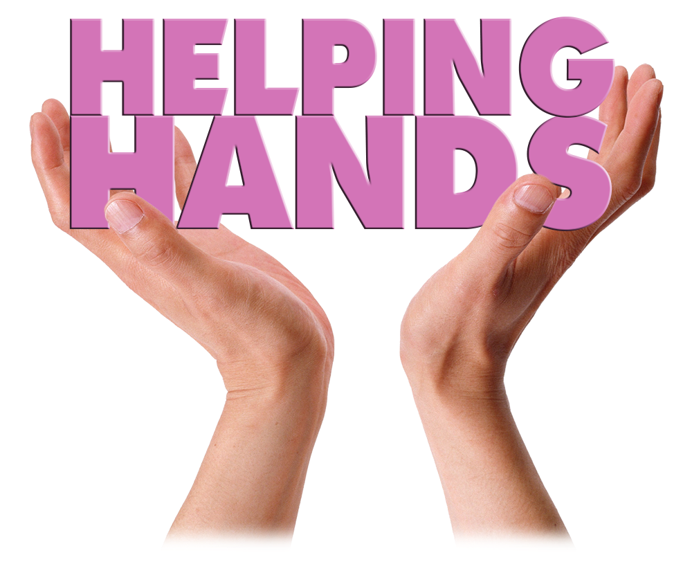 Helping Hands held in Hands